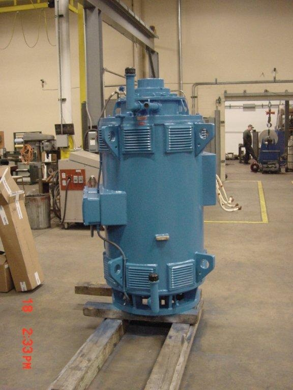 Supply & Install 900 HP Vertical Pump Motor